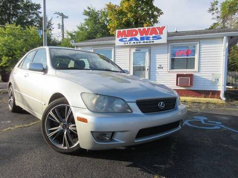 2004 Lexus IS 300 for sale at Midway Cars LLC in Indianapolis IN