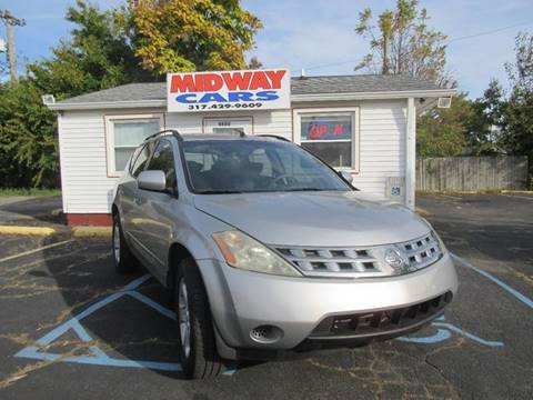 2005 Nissan Murano for sale at Midway Cars LLC in Indianapolis IN