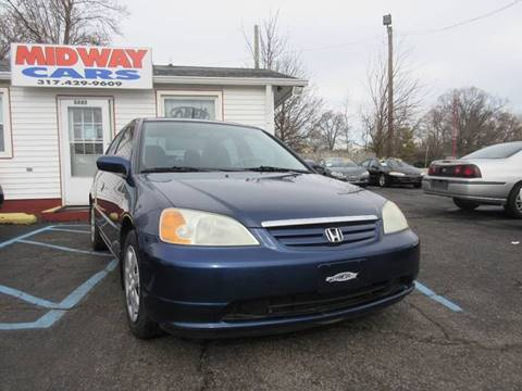 2003 Honda Civic for sale at Midway Cars LLC in Indianapolis IN