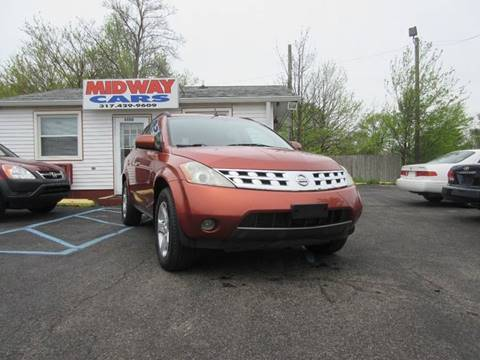 2004 Nissan Murano for sale at Midway Cars LLC in Indianapolis IN