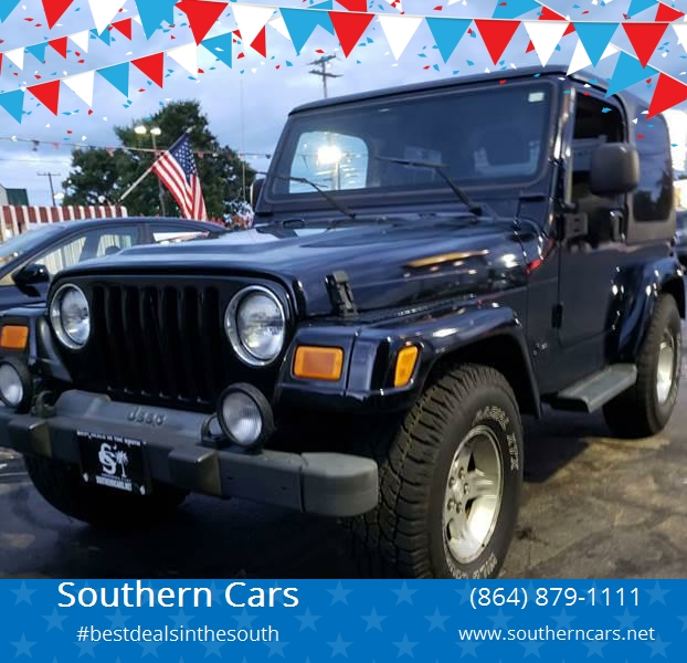 2004 Jeep Wrangler For Sale At Southern Cars In Greer SC
