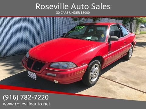1995 Pontiac Grand Am for sale in Roseville, CA