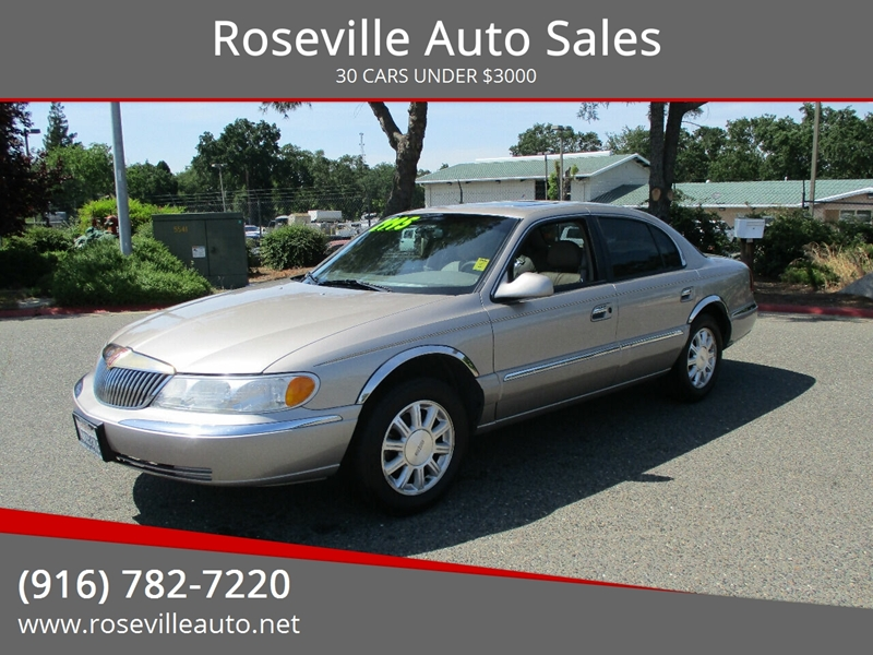 Roseville Auto Sales >> 2001 Lincoln Continental 4dr Sedan In Roseville Ca Roseville Auto