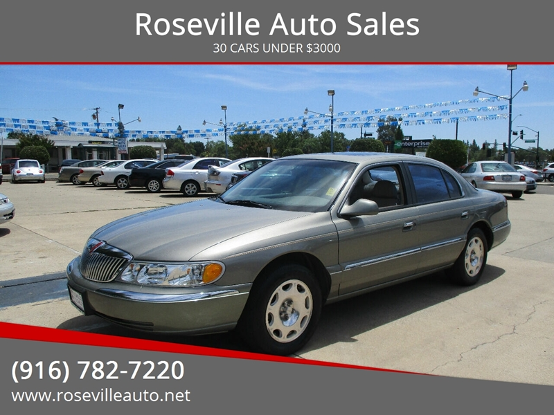 Roseville Auto Sales >> 2000 Lincoln Continental 4dr Sedan In Roseville Ca Roseville Auto