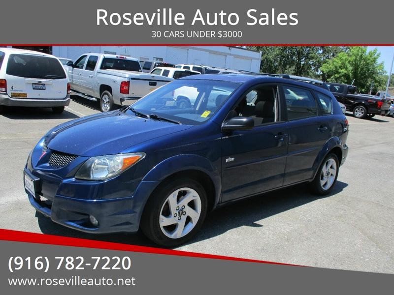 Roseville Auto Sales >> 2004 Pontiac Vibe Fwd 4dr Wagon In Roseville Ca Roseville Auto Sales