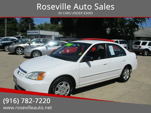 2002 Honda Civic for sale in Roseville, CA