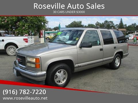 1999 GMC Yukon for sale in Roseville, CA