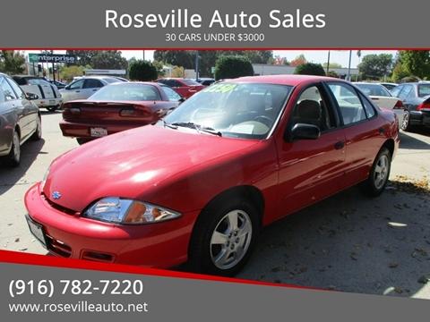 2002 Chevrolet Cavalier for sale in Roseville, CA