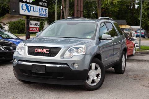 2007 GMC Acadia for sale at EXCLUSIVE MOTORS in Virginia Beach VA
