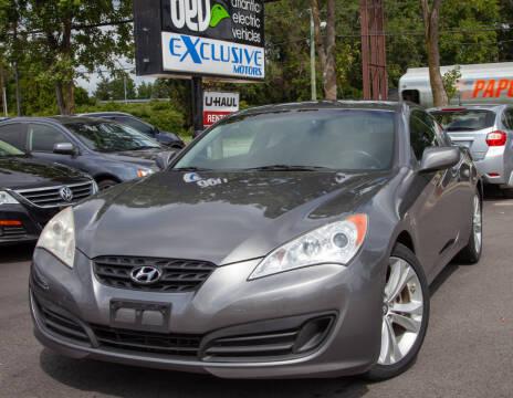 2011 Hyundai Genesis Coupe for sale at EXCLUSIVE MOTORS in Virginia Beach VA