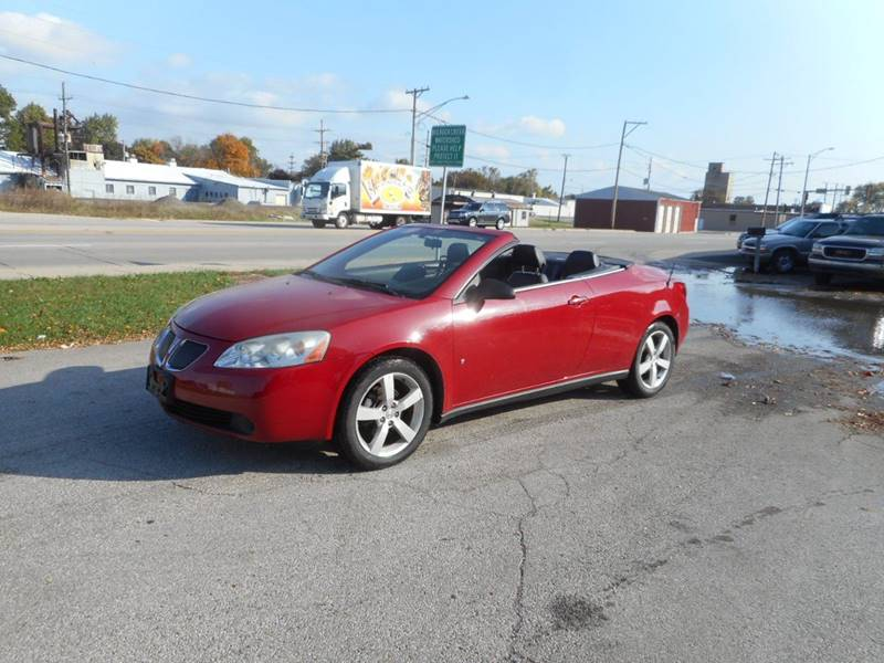 2007 PONTIAC G6 GT 2DR CONVERTIBLE red cargo tie downs front air conditioning front air conditi
