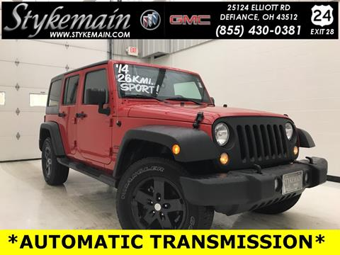 2014 Jeep Wrangler Unlimited for sale in Defiance OH
