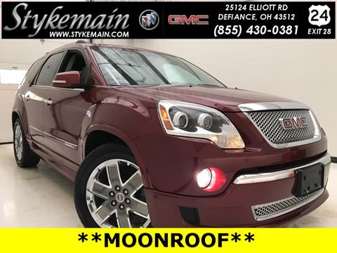 2011 GMC Acadia for sale in Defiance OH