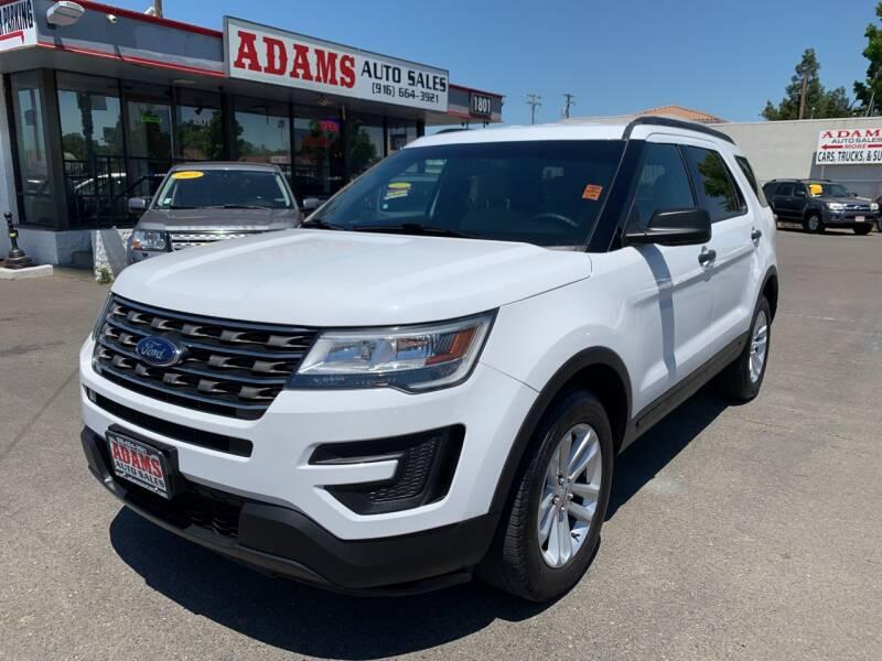 2016 Ford Explorer for sale at Adams Auto Sales in Sacramento CA