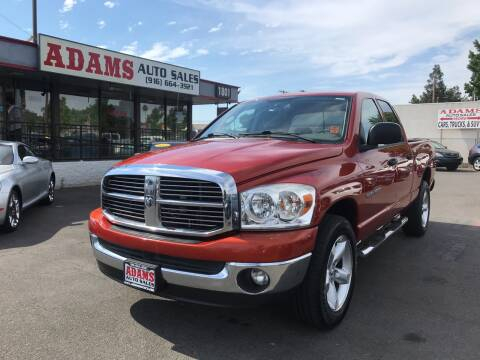 2007 Dodge Ram Pickup 1500 for sale at Adams Auto Sales in Sacramento CA