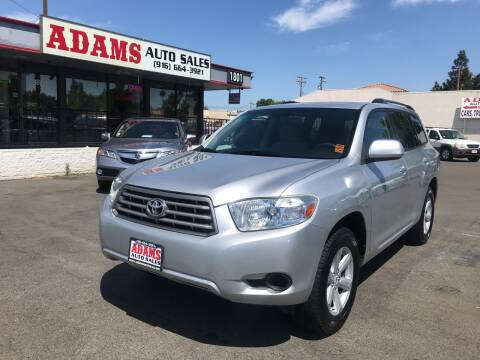 2010 Toyota Highlander for sale at Adams Auto Sales in Sacramento CA