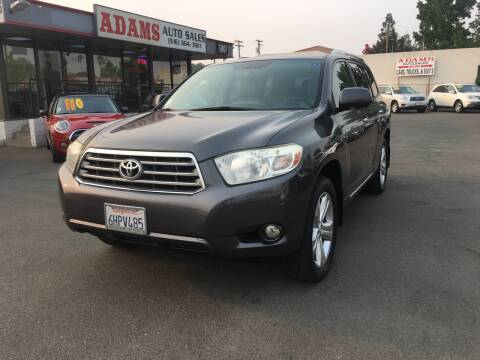 2009 Toyota Highlander for sale at Adams Auto Sales in Sacramento CA