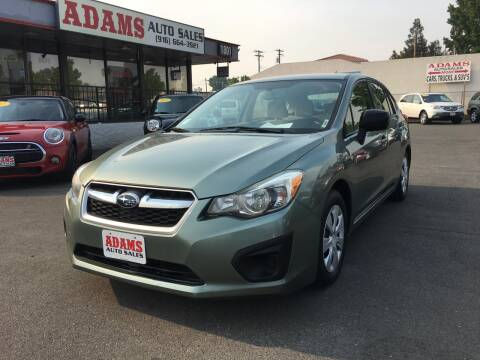2014 Subaru Impreza for sale at Adams Auto Sales in Sacramento CA