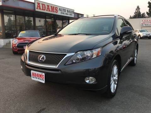 2010 Lexus RX 450h for sale at Adams Auto Sales in Sacramento CA
