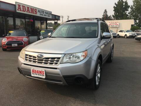 2012 Subaru Forester for sale at Adams Auto Sales in Sacramento CA