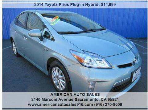 2014 Toyota Prius Plug-in Hybrid for sale at American Auto Sales in Sacramento CA