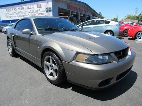 2003 Ford Mustang SVT Cobra for sale at American Auto Sales in Sacramento CA