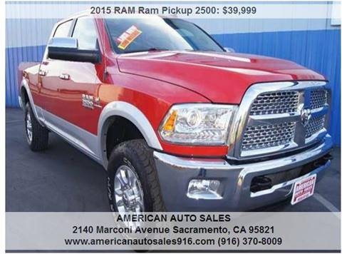 2015 RAM Ram Pickup 2500 for sale at American Auto Sales in Sacramento CA