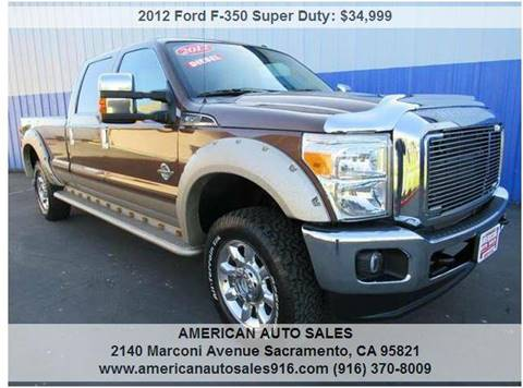 2012 Ford F-350 Super Duty for sale at American Auto Sales in Sacramento CA