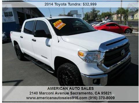 2014 Toyota Tundra for sale at American Auto Sales in Sacramento CA