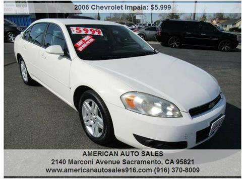 2006 Chevrolet Impala for sale at American Auto Sales in Sacramento CA