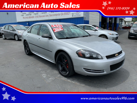 2013 Chevrolet Impala for sale at American Auto Sales in Sacramento CA