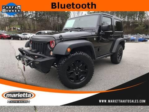 2016 Jeep Wrangler Willys Wheeler for sale at Marietta Auto Sales in Marietta GA
