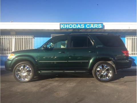 2004 Toyota Sequoia for sale at Khodas Cars in Gilroy CA