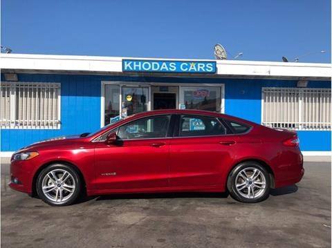 2015 Ford Fusion Hybrid for sale at Khodas Cars in Gilroy CA