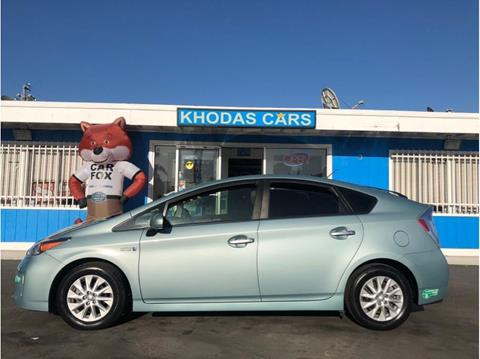 2014 Toyota Prius Plug-in Hybrid for sale at Khodas Cars in Gilroy CA