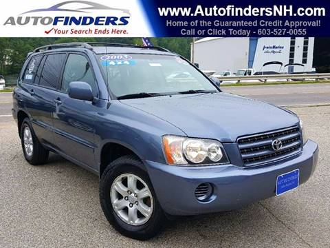 2003 Toyota Highlander for sale at AUTOFINDERS LLC in Laconia NH