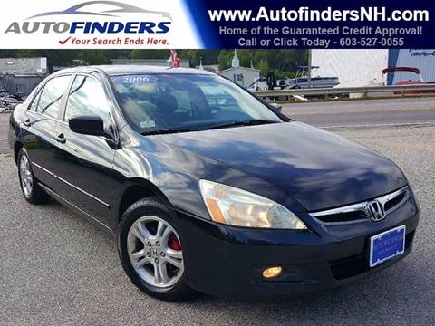 2006 Honda Accord for sale at AUTOFINDERS LLC in Laconia NH