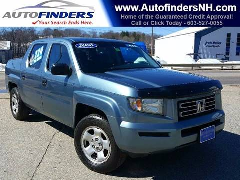 2006 Honda Ridgeline for sale at AUTOFINDERS LLC in Laconia NH