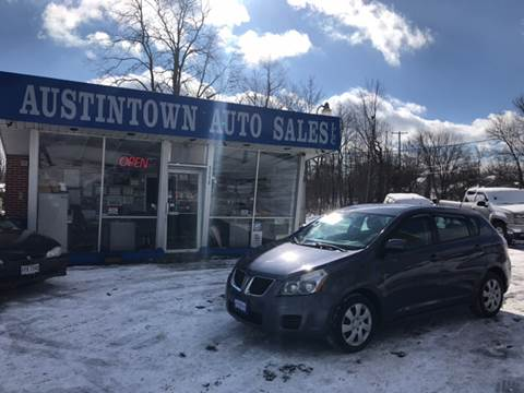 2010 Pontiac Vibe for sale in Austintown, OH