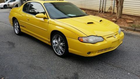 2003 Chevrolet Monte Carlo for sale at DREWS AUTO SALES INTERNATIONAL BROKERAGE in Atlanta GA