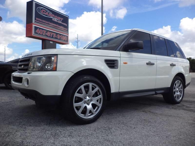 2008 Land Rover Range Rover Sport for sale at CARPORT SALES AND  LEASING in Oviedo FL