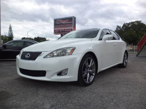 2010 Lexus IS 250 for sale at CARPORT SALES AND  LEASING in Oviedo FL