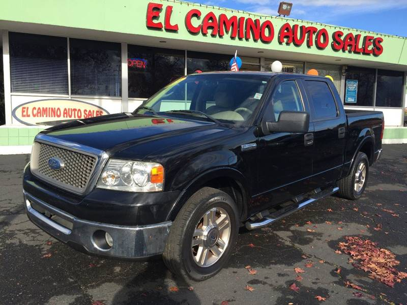 2006 FORD F-150 LARIAT black pickup bed light pickup bed type - fleetside bumper color - chrome