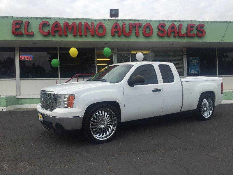 2008 GMC SIERRA 1500 SLT EXT CAB SHORT BOX 2WD white brand new tires air conditioning alarm po