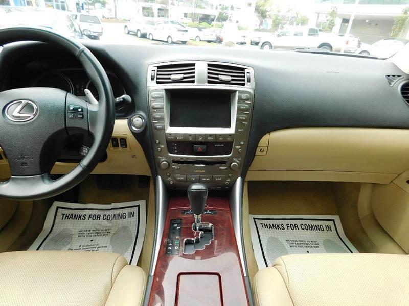 2007 Lexus IS 250 4dr Sedan (2.5L V6 6A) - Sunnyvale CA