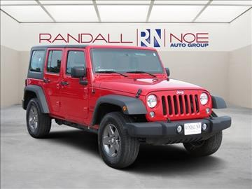 2014 Jeep Wrangler Unlimited for sale in Terrell, TX