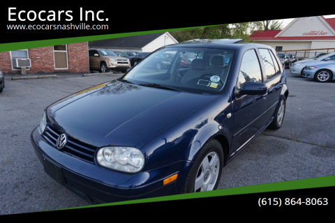 2001 Volkswagen Golf for sale at Ecocars Inc. in Nashville TN