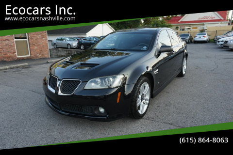 2009 Pontiac G8 for sale at Ecocars Inc. in Nashville TN