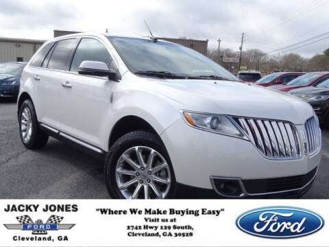 2013 Lincoln MKX for sale at Jacky Jones Ford in Cleveland GA