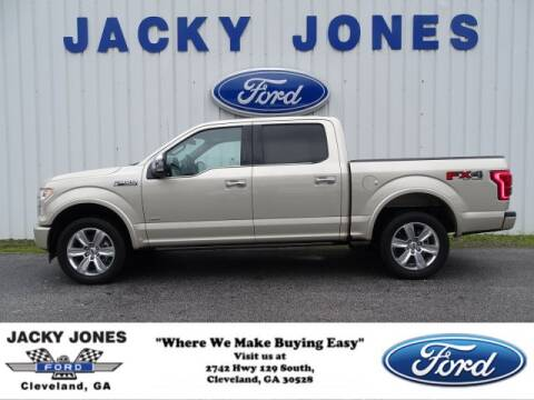 2017 Ford F-150 Platinum for sale at Jacky Jones Ford in Cleveland GA